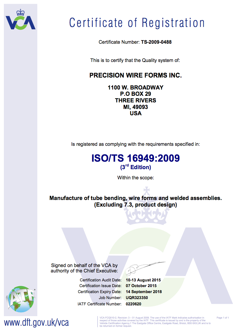 Quality – Precision Wire Forms